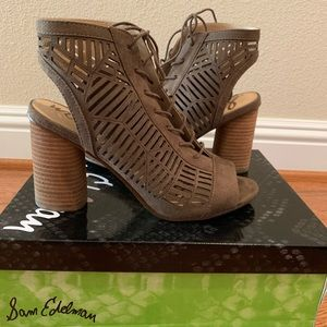 Sam Edelman Lace-Up Booties